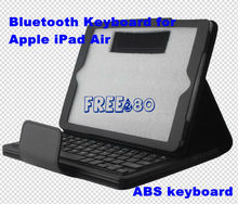New Arrival! PU Leather Case ABS Keyboard Wireless Bluetooth Keyboard For iPad Air