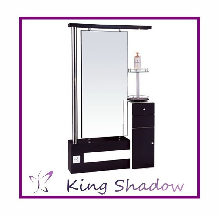 Wholesale salon shampoo stations mirror styling station for Salon table and mirror