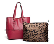 China promotional gifts fashion lady cow leather handbags for office lady