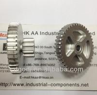 customized aluminum double spur gear