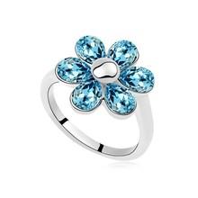 12723 Joyas anillo de flores de cristal brillante