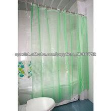 impermeable transparente baño 3d cortina de ducha hookless