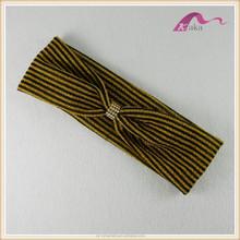 fancy style unisex stripe knitted head wrap