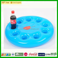 Floating inflatable cup holder with 5 holes for promotion