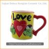 Cartoon animal hand-painted mug with figurine inside
