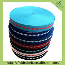 Ali express woven cotton polyester colorful webbing