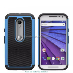 2015 Hot Sale!!! Luxury Ultra TPU+PC Back Cover For Motorola Moto G3 Cell Phone Case
