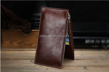 2015 new design oilcloth young man thin business card wallet