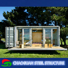 low cost chinese prefab house/villa/office/shop/container sentry box,light weight steel structure for sale(customized function)
