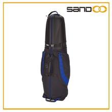 Sandoo alibaba china wheeled custom golf travel bag, popular luxury golf bag