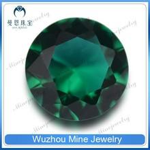 Handwork Round Brilliant Cut 20mm Very Large Emerald Glass Crystal