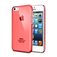for iphone 5c ultra thin crystal clear hard mobile phone case