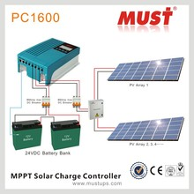 <MUST POWER>20A/30A/40A hybrid solar inverter LCD/LED MPPT Solar Charge Controller for home/office system