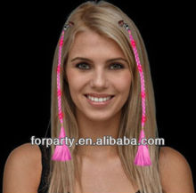LHW-0073S Fashion LED braided hair extensions