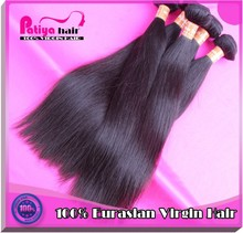 Best selling china,french, germany, britain etc soft & smooth eurasian straight virgin hair, virgin eurasian human hair weave1b