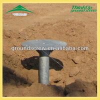 wooden houses foundation OEM supplier great metal galvanized ground screw pole anchor