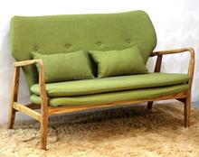 LINK-ER-010 living room furniture ash wood recliner sofa chair