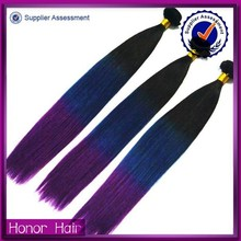 Exclusive good quality natural unprocessed ombre silky straight malaysian hair weave