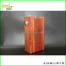 2015 entirely mechanical box mod 18650 battery, big wattage Wood carving beast new wood box mod
