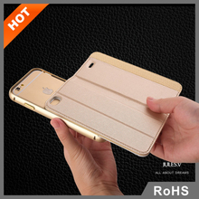 JULES.V new design (2 in 1) colored leather flip cover for iphone 6 battery case with card holder