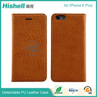PU leather material cell phone wallet case for iphone 6