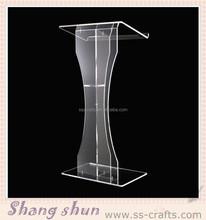 Plexiglass Cheap Pulpit Acrylic Lectern/Podium Rostrum/Pulpit Acrylic Dais