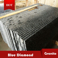 Nature blue diamond granite stone flamed tile