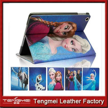 For iPad mini 2 Disney Frozen Olaf Elsa Anna PU Leather Stand Case