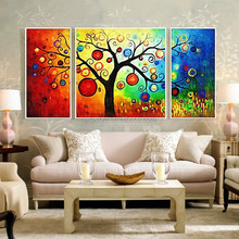 Interior home decorative art wall Modern Abstract Tree Oil Painting