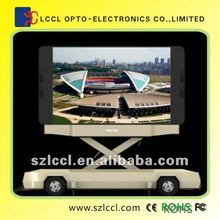 Mobile LED Display P10 Vehicle LED Display With Rotating, Lifting and Folding System