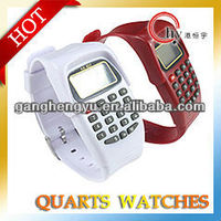 Cheap promotion watch with electronic calculator plastic watch multi color promotion watch