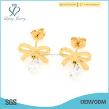 Fashion design stainless steel china gold earring findings