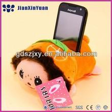 Güzel meyve doldurulmuş telefon sahibi/ucuz peluş muz oyuncaklar telefon