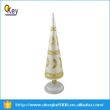 LED cone shaped lamp shades with christmas decoration