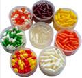 vigoroso y azul blanco farmacéutico cápsula píldora medicina y packging varios colores
