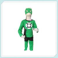 Cute Green Lantern Superhero Children Costume Kids Boys Halloween Bodysuit Cosplay Costume