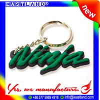 Custom Promotional 3D Rubber Soft PVC Key Ring Keychain