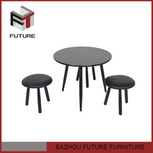 modern club small round wooden coffee table made in china