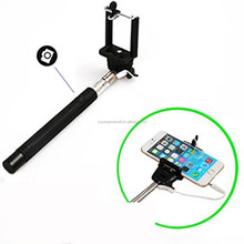 Hot Z07-5 Plus Monopod Cable Take Pole Monopod Selfie Stick 2015 Extendable Hand Held Wired Monopod Headphone Cable Control