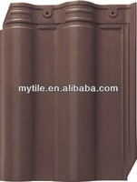 2014 matte coffee brown clay interlocking roof tile