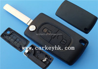 Wholesale Citroen 2 button remote key shell blank, without groove blade (307 blade),with battery place. No logo