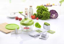 Multifunction spiral cabbage slicer