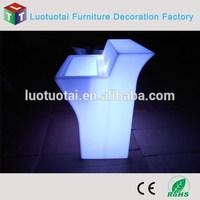 Plastic led outdoor furniture for wholesales