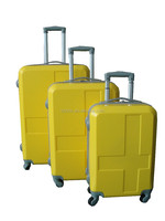 yellow color travel luggage bags