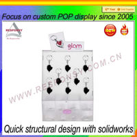 manufacture earring display exhibitor acrylic stand display panel