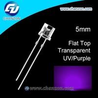 2015hot sale brightness flat 5mm 1000pcs prices uv led diode