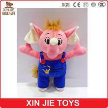 cute elephant plush toy custom made plush elephant toy soft wild animal toy