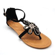 rhinestone new arrival lady flat shoes in women's dress