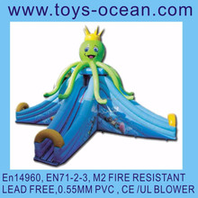 inflatable octopus slide CE ,EN14960 M2 Fire resistant