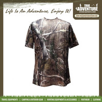True Adventure Military Short-sleeved Summer Men's Polyester Camoufalge T- shirts Hunting Breathable Camouflage T-Shirt